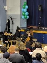 The Apollo Trio: Natasha Wipfler-Kim (violin), Ari Freed (cello), and Emma Huang (piano)